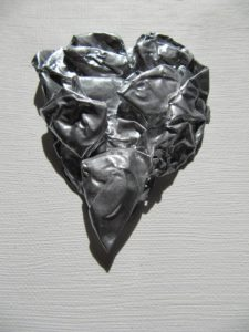 PRECIOUS HEART SERIES-SILVER SMALL BOLD HEART 2010 by Sandra Totterdell