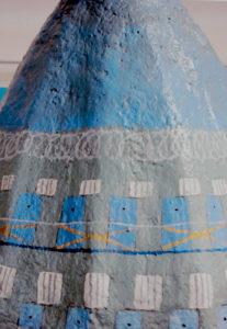 Prison blue vase (detail three) by Stephen Mundy