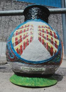 Prison Perspective Vase (detail three) by Stephen Mundy