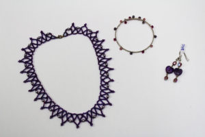 Purple Beaded Jewellery by Hannah Rogers