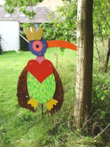 Queen of Hearts Bird by Becky Smith