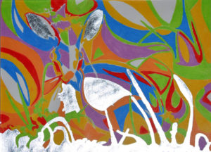 Wild Hare mandala by LUIZA VAROVICI
