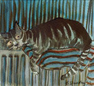 Radiator cat by Emma Dunphy