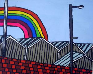 Rainbow over the Factory by Pauline Jackson