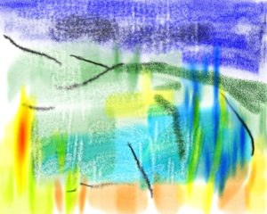 Rainy Pond by Watercolour sketch 2
