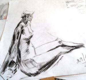 reclining nude by blodwyn jones