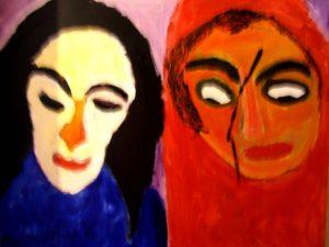 Red two Males by Fatma Durmush