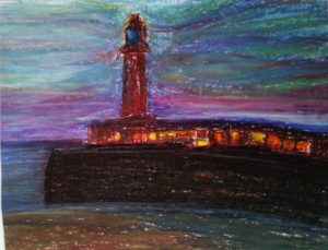 On Margate Harbour Arm by susan taylor