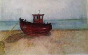 Boat in the Rain by susan taylor