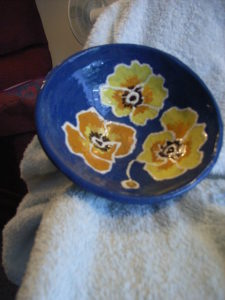 Poppy Bowl by AVERIL CLIFFORD REES