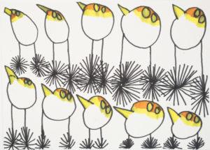 Penguins by Saffron Wright