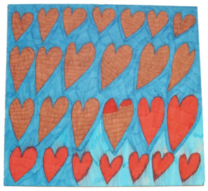 Hearts by Saffron Wright
