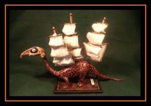 Sailbacked extinctasuarus by Kuriologist