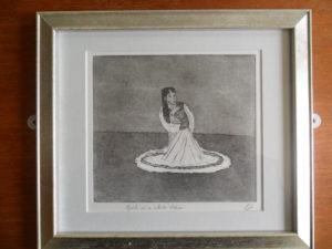 Girl in a white dress by Ken Gowers