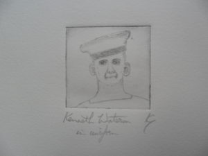 Kenneth Waterson in Uniform by Ken Gowers