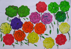 Roses made in sadness by Sarah Rothery