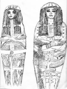 Two Egyptian Mummies by Mike Hughes
