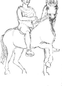 roman youth on horseback 1 by Temperance