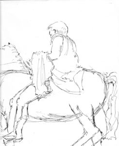 Roman Youth on Horseback 2 by Mike Hughes