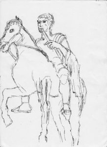 Roman Youth on Horseback 4 by Temperance