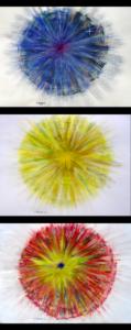 Triptych 'Spring Light' by Irina Holmes