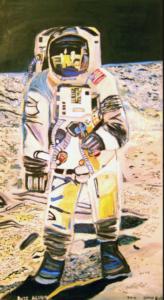 Buzz Aldrin second man on the moon by shjbudd