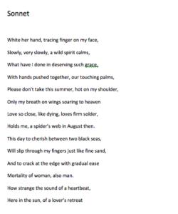 Sonnet by Mick Bowen