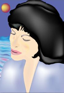 A portrait of a woman by shjbudd