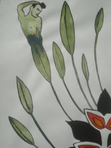 Morrissey in Flower by NJ Winborn