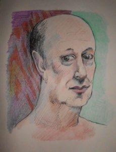 self portrait by Nick Davisinghe