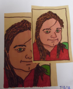 SELF PORTRAIT IN COLOUR by NATALIE PRIEST