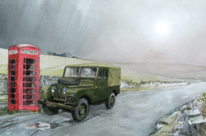 Series 1 Landrover and Phone box by John Lowerson