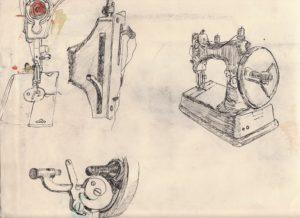 Vintage sewing machine by blodwyn jones