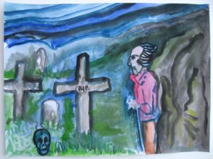 Character in a Graveyard by Sharon Rogers