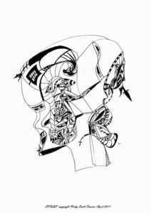 SKULL by Automatic Biro Art