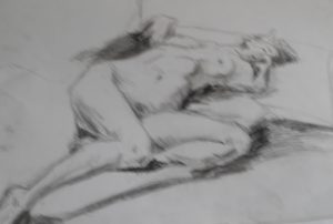sleeping nude by blodwyn jones