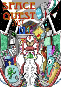 SPACE QUEST by Outcast Illustration