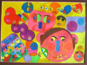 Circle faces by Sarah Rothery