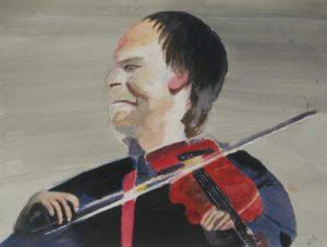 Folk Violin Player by Sylvia Scarsbrook