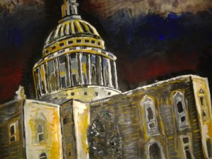 St Paul's at Night by Mike Hughes