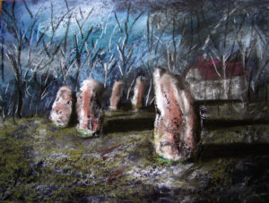 Standing Stones in Ley Wood by John57