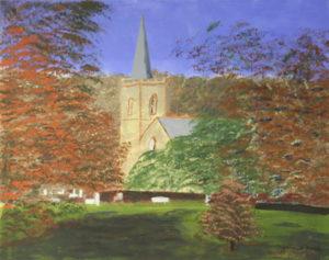 Stanmer Park Church in Autumn by Bernard Parker