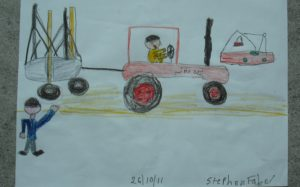The Tractor and Boats in Chichester Harbour by Stephen Faber