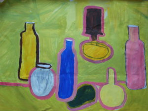 Still Life on Green Table by Jenny Lewis