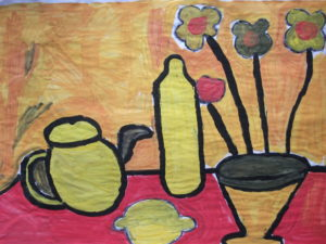Still Life on Red Table by Jenny Lewis