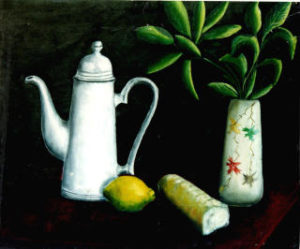 Still life with paranoid lemon by David Alexander Richardson