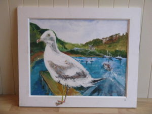 Stranded seagull by Michael Spencer
