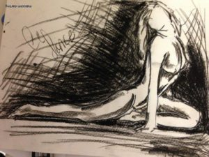 Study in Charcoal by Malcolm Darling