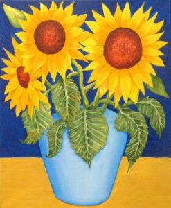 Sunflowers by Adrian Mitchell