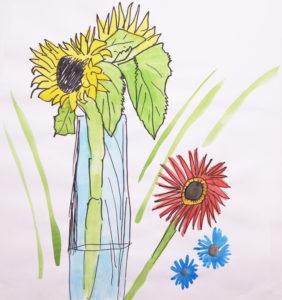 Sunflowers by Fergus Cronshaw
